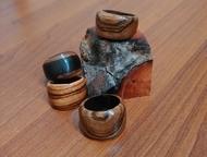 кольца, кулоны из экзотических и ценных пород дерева Венге, зебрано, эбен, сатин азиатский, сапелли, айронвуд, кокоболо, снейквуд. Цена от 500 до 1200, Ачинск - Бижутерия