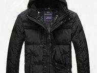 Чёрная куртка от Paul Shark Модный классического стиля смоляного цвета мужской пуховик бренда Paul Shark. Фасон с воротником пошива в спортивном стиле, Ангарск - Мужская одежда