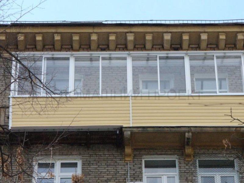 Внешняя обшивка сталинского балкона. балконы с внешней отдел.