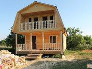 Дом с балконом от строительной компании Построим дом по любому проекту в короткие сроки , или дачу, баню, коттедж на Вашем участке (от 245 тыс. руб. ), Тула - Купить дом