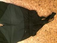 Зимний комплект адидас Пуховик и штаны со спинкой, рост 110, черные. Пуховик теплый до -20 носили с одной толстовкой. Очень легкий по весу комплект. Н, Кемерово - Детская одежда