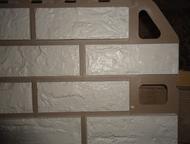 Красноярск: Панель фасадная новые. в упаковке. в наличие 36 штук. цена за 1 штуку. Размеры:   АП Фасадная панель кирпич (белый) 1, 14х0, 48м