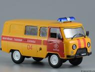 Липецк: автомобиль на службе №4 Уаз-3909 АГС Аварийно газовая служба цвет:оранжево-красный, масштаб:1:43, сделан из металла и пластика, модель в блистере, с ж