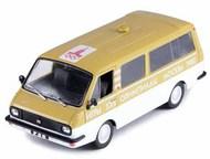 автомобиль на службе №33 Раф-2907 Сопровождение олимпийского огня цвет:бежевый с белым, масштаб:1:43, сделан из металла и пластика, модель в блистере,, Липецк - Коллекционирование