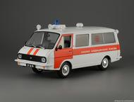 автомобиль на службе №61 Раф-22031 скорая медицинская помощь цвет:бело-красный, масштаб:1:43, сделан из металла и пластика, модель в блистере, с журна, Липецк - Коллекционирование