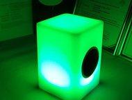 Москва: Светодиодная Bluetooth колонка Куб Характеристики: Светодиодная Bluetooth колонка Куб. Материал пластик, Источник света Светодиоды, Мощьность 0. 5 Вт,