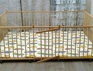 Манеж детский самый большой деревянный 2, 0х2, 5м для двойни с калиткой для малышей Манеж на заказ по индивидуальным размерам. Большой детский деревян, Москва - Детская мебель
