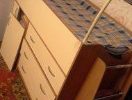 Москва: продам кровать-чердак Продается кровать-чердак 180/60 светло бежевого цвета в хорошем состоянии за 6000р. В 5 мин от м. Теплый Стан. Звонить после 12-