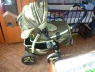 Продам б/у коляску, не дорого Коляска б/у зелёного цвета, зима-лето. торг, Набережные Челны - Детские коляски