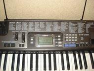 Нефтеюганск: Синтезатор Casio CTK-720 Продам синтезатор Casio CTK-720 вместе с подставкой. Цена 8000. Обучающий, USB, 100 ритмов, 242 тона, 61 клавиша, 100 различн