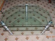 Столик стеклянный Трех ярусный столик стеклянный, Нефтеюганск - Мебель для гостиной