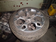 литые диски с резиной на форд ауди 225/45R17 б/у летняя резина, Ноябрьск - Колесные диски