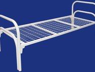 Новосибирск: Железные кровати для рабочих, кровати для строителей, кровати для интернатов, кровати оптом, кровати дешево Предлагаем металлические кровати (одноярус