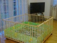 Краснодар: Не стандартный большой детский деревянный манеж 1,5х1,5м с калиткой для двойни Большой детский деревянный манеж 1, 5х1, 5м с калиткой (20730 руб)  Ман