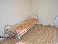Октябрьский: Кровати металлические Кровати полностью металлические. Одноярусные и двухъярусные. В основании сварная сетка, не прогибается. Ячейка 10*10 см.   Спаль