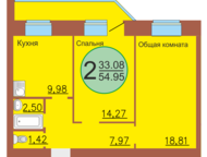 Тюмень: продам 2 ком квартиру 55 кв, м, в новостройке на Революции, 228 продам 2 ком квартиру 55 кв. м. в новостройке на Революции, 228 за 2550 тыс. руб. дом