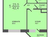 Тюмень: 1-комн квартира, Арктическая, 1/1 1-комн квартира, Ямальский-2 мкр, Арктическая, 1/1, новый дом (заселен), индивидуальный проект, 5/17к, пл. 42, 4 м2,