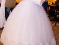 Продам платье Красивое свадебное платье белого цвета, одевалось один раз. Возможен торг., Тула - Свадебные платья