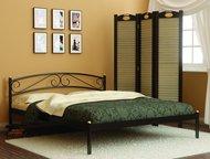 Кровать Люкс в Златоусте Кровать Люкс - это классическая металлическая кровать, в которой удачно сочетаются простота дизайна, визуальная легкость и пл, Златоуст - Мебель для спальни