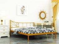 Кровать Лилия в Златоусте Кровать Лилия – металлическая кровать с ассиметричной спинкой.   Такая кровать прекрасно впишется не только в обстановку, оф, Златоуст - Мебель для спальни